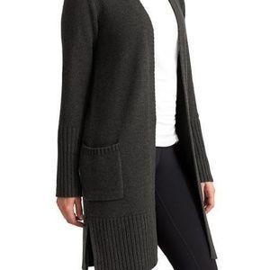Athleta open passage sweater coat w/front pockets